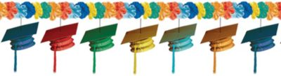 Cool Grad Cap Graduation Garland