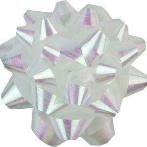 Iridescent White Gift Bow