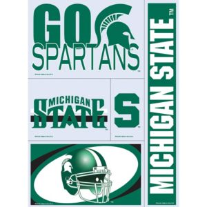 Michigan State Spartans Decals 5ct