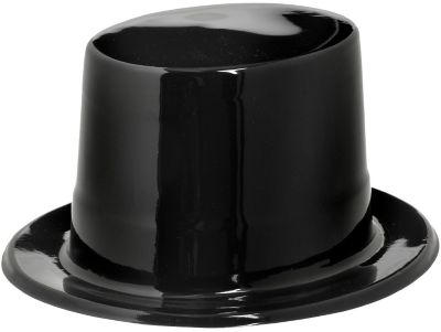 Black Plastic Top Hat 5in