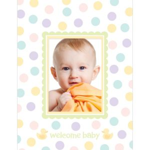 Baby Shower Autograph Photo Mat
