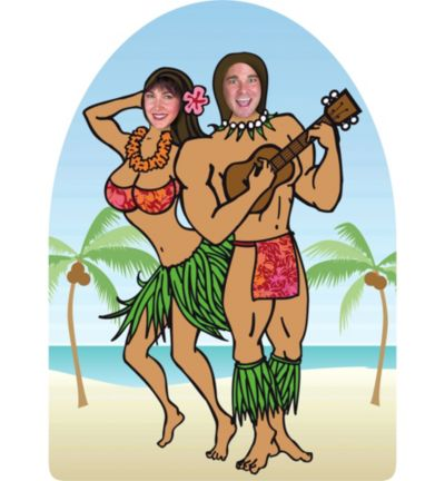 Life-Size Luau Photo Cutout