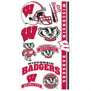 Wisconsin Badgers Tattoos 7ct