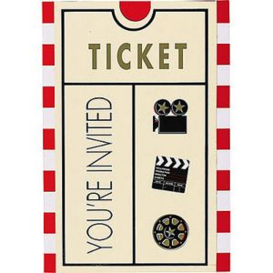 Clapboard Hollywood Invitations 8ct