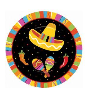 Bright Fiesta Dessert Plates 8ct