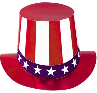 Red, White & Blue Top Hat