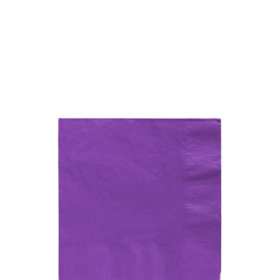 Purple Beverage Napkins 50ct