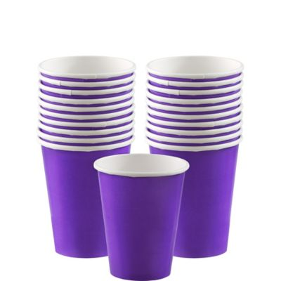 Purple Paper Cups 20ct