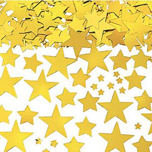 Metallic Gold Star Confetti