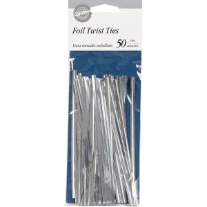 Wilton Silver Twist Ties 50ct