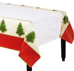 Classic Christmas Tree Table Cover