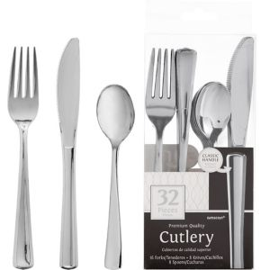 Silver Look Cutlery 32ct