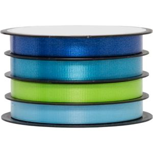 Multi Channel Blue Mix Curling Ribbon