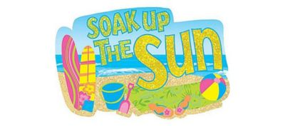 Surf's Up Glitter Cutout