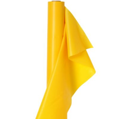 Extra-Long Yellow Sunshine Plastic Table Cover Roll