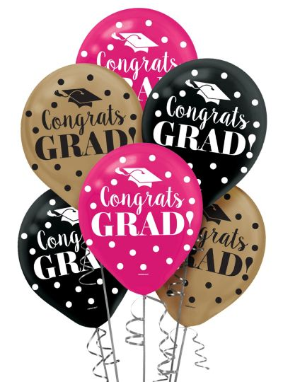 Colorful Graduation Balloons 15ct