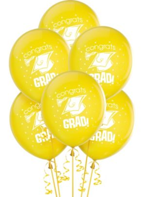 Yellow Graduation Balloons 15ct