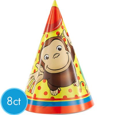 Curious George Party Hats 8ct