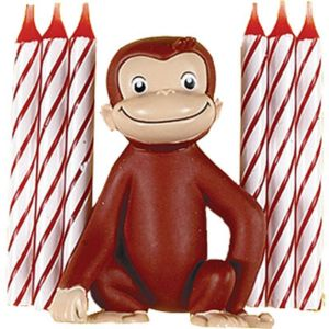 Curious George Cake Decoration and Candles 7ct