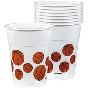 Basketball Plastic Cups 8ct