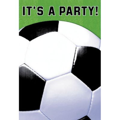 Soccer Fan Invitations 8ct