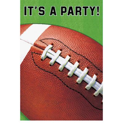 Football Fan Invitations 8ct