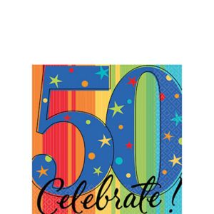 A Year to Celebrate 50th Birthday Beverage Napkins 16ct