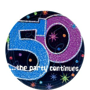 The Party Continues 50th Birthday Dessert Plates 8ct