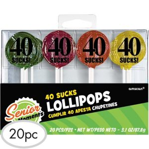 40 Sucks Birthday Lollipops 20ct