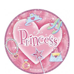 Princess Prismatic Dessert Plates 8ct
