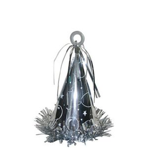 Silver Party Cone Balloon Weight