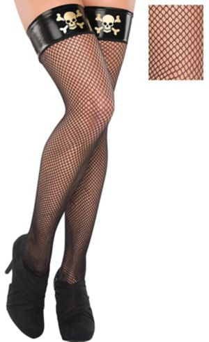 Adult Fishnet Thigh High Pirate Stockings