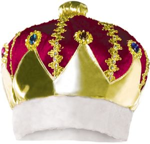 Burgundy King Crown