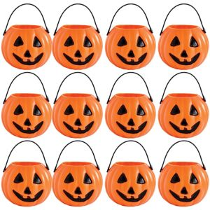 Pumpkin Trick or Treat Candy Pails 12ct