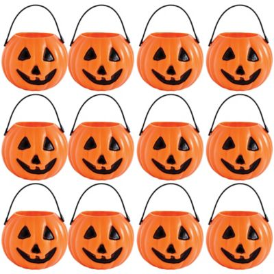 Pumpkin Trick or Treat Candy Pails 12ct