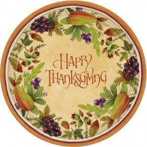 Thanksgiving Medley Dessert Plates 8ct