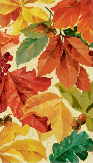 Elegant Leaves Guest Towels 16ct