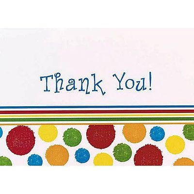 Bright Dots Thank You Notes 8ct