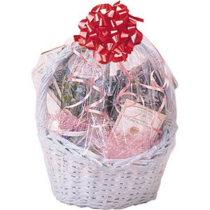 Clear Cello Shrink Wrap Basket Bag