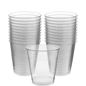 CLEAR Plastic Cups 20ct