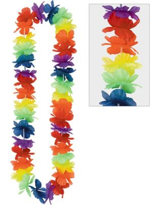 Rainbow Hawaiian Lei
