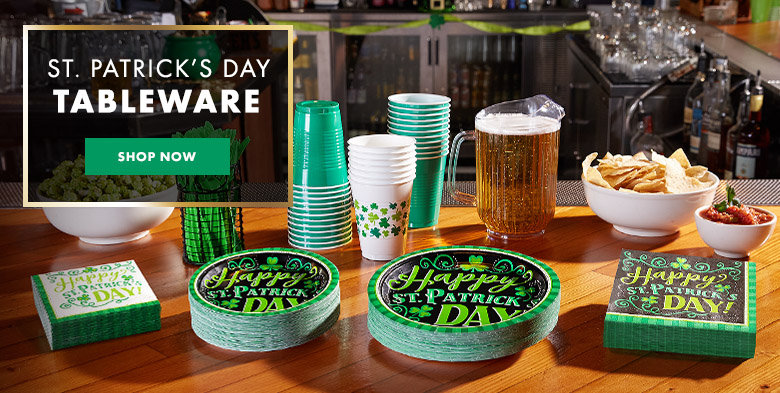 St. Patrick's Day Tableware Shop Now