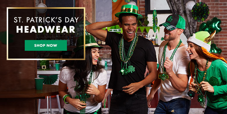 St. Patrick's Day Hats and Headwear Shop Now