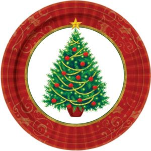 Twinkling Tree Lunch Plates 50ct