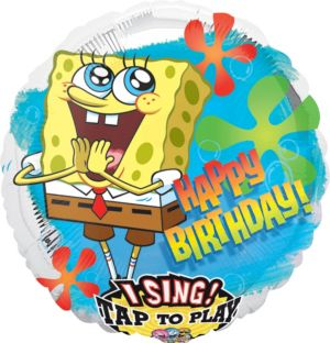 Happy Birthday SpongeBob Balloon - Singing