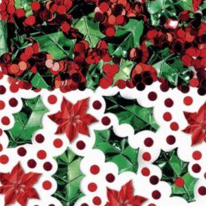 Poinsettia Christmas Confetti