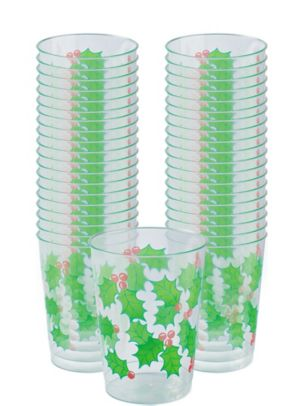 Holly Tumblers 40ct