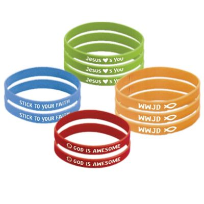 Religious Attitude Bracelets 12ct
