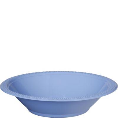Pastel Blue Plastic Bowls 20ct