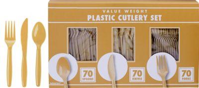Gold Cutlery Set 210pc